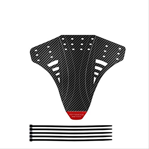 Bicycle Mudguard Carbon Fiber Twill Plastic Reflective Sticker Mudguard for Bicycle Accessories Set Up Bicycle Mudguard Rear Front Wing