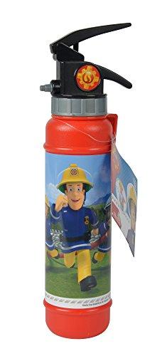 Simba 109252125 - Feuerwehrmann Sam Feuerlöscher Wasserspritzer / Mit wasserfester Banderole / 28cm / Tankvolumen 450ml / Reichweite 5m