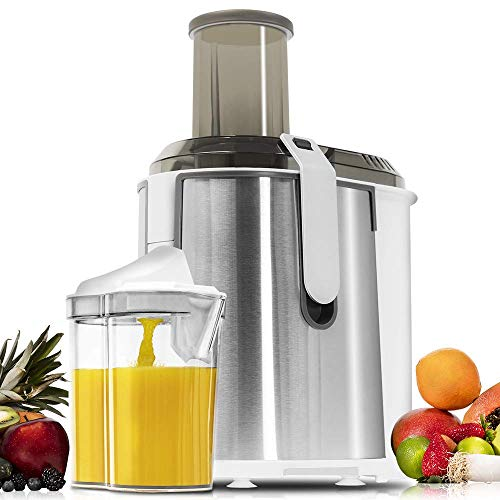 Cecotec Licuadora ExtremeTitanium 19000 XXL para Frutas y Verduras, con 19000 RPM, 1300 W, Canal Entrada XXL 75 mm, Disco de Titanio, 2 Velocidades y Libre de BPA.
