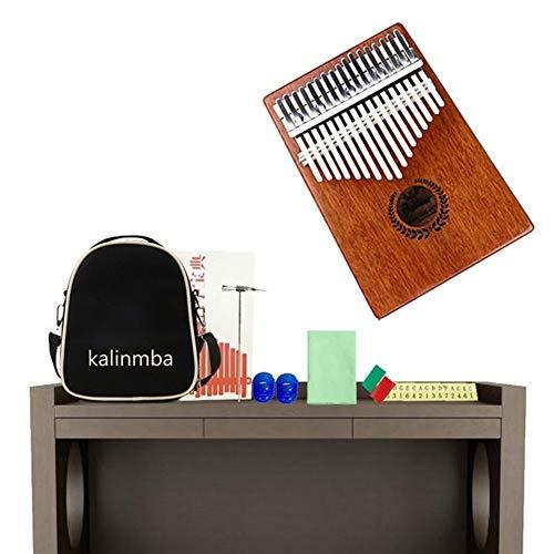 Kalimba, Daumenklavier 17 Keys Kalimba Mahagoni Daumenklavier Mbira Massivholz Daumenklavier Mini-Finger-Tasteninstrument Calimba African Natur Klavier (Color : 02)