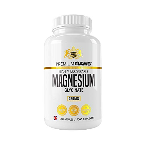 Magnesium Glycinate Capsules 1250mg per Serving Providing 250mg of Pure Highly biovailable Elemental Magnesium (120 Vegan Capsules) Magnesium Supplements for Women and Men.
