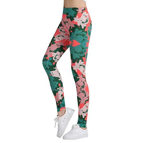 WFTD Frauen Hohe Taille Fitness Yoga-Hosen Für Laufende Fitness, Schnelltrockner Und Schweiß, 100% Polyester 3D-Gedruckte Outdoor-Sport-Leggings, Eine Größe