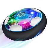 Baztoy Balón Fútbol Flotant, Recargable Pelota Futbol con Protectores de Espuma Suave y Luces LED, Balones Futbol Juguete Niños 3 4 5 6 7 8 9 10 11 12 Años, Air Power Soccer para Regalos Cumpleaños