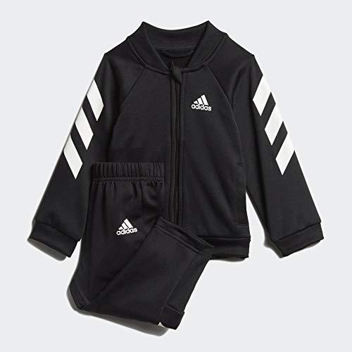 adidas I Mm Xfg TS Trainingsanzug für Babys, Unisex, Schwarz/Weiß, 86