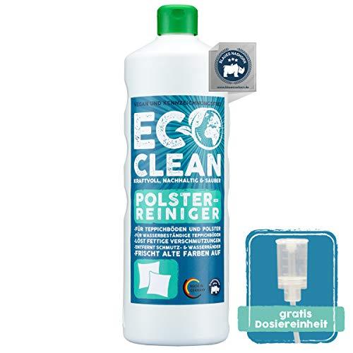 Eco Clean® Polsterreiniger 1L - hochwirksamer Sofa Reiniger - materialschonend - zuverlässiger Autositz Reiniger mit Farbauffrischung - Polsterschaum antistatisch - Made in Germany