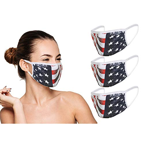 Washable Reusable Anti Dust Face Mouth Cloth for Cycling Camping Travel (IN STOCK 2-5 DAYS DELIVERY) - 3 Pack