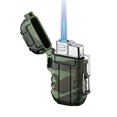Torch Lighter, Refillable Butane Lighter, Windproof Gas Lighter Adjustable Jet Flame Lighters for Fireplace Grill Camping Fireworks BBQ, Pocket...