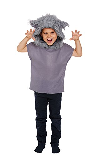 GCC Fashion Store Kind Wolf Tier Kostüm Kinder Cosplay Big Bad grau Fancy Kleid Top