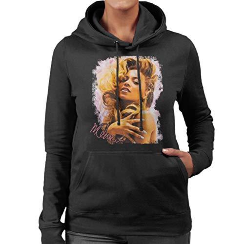 VINTRO Singer Beyonce Shiny Nails Damen Kapuzenpullover Original Portrait by Sidney Maurer Gr. XX-Large, Schwarz