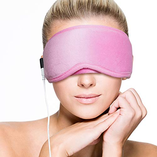 ARRIS Electric USB Heated Eye Mask, Blepharitis Treatment Eye Masks W/ 5 Temperature Control Warm Therapeutic for Relieving Insomnia, Meibomian Gland Disease, Headache Stress Pink