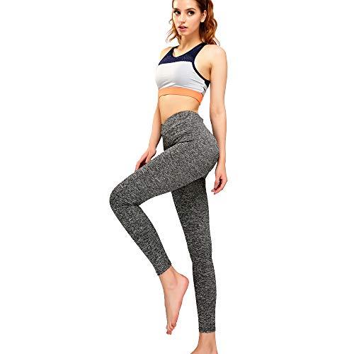 Mangotree Classic Damen Tech Mesh Sport Leggins Skinny Tube Camo Trousers Hipsters Stretch Hose Workout Tights Yoga Pants (Grau)