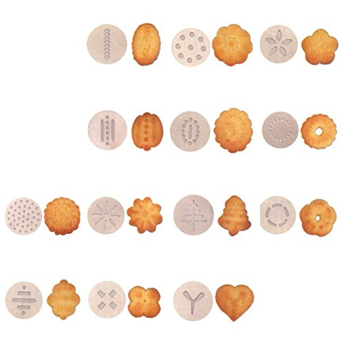KitchenCraft MasterClass Biscuit Making and Icing Set for Cake Decorations, 22 Pieces