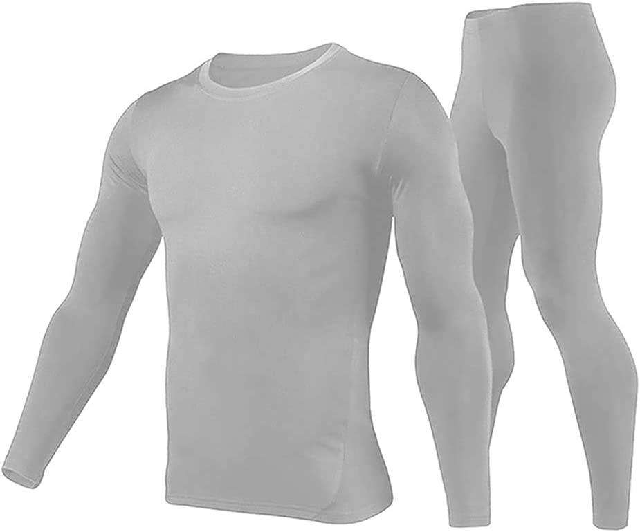 ZSQAW Men Motorcycle Thermal Underwear Set Motorcycle Warm Base Layers Tight Long Johns Tops Pants (Color : C, Size : M Code)