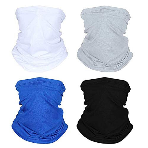 Lantch Outdoor Funktionstücher für Herren Multifunktionstuch Schal Sports Elastische Sonnenschutz Schal(C-002,4PCS)
