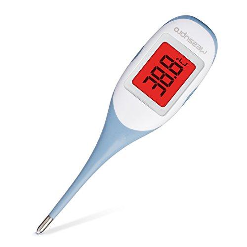 MeasuPro Termometro Digital Bebe, Niños y Adultos Termómetro, Con Un Diseño Ultra Suave Impermeable, Que Cambia De Color Para Indicar La Fiebre Y Función De Memoria, Aprobado Por El CE Y La FDA