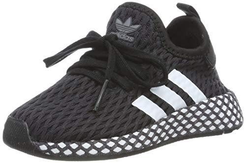 adidas Unisex-Kinder Deerupt Runner Fitnessschuhe, Schwarz (Negro 000), 25.5 EU