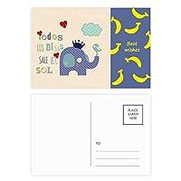 漫画のクラウン象雲鳥 バナナのポストカードセットサンクスカード郵送側20個