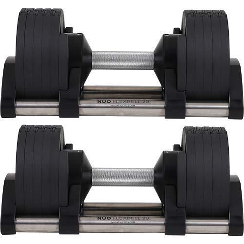 [フレックスベル] アジャスタブルダンベル 新型2kg刻み NUO ADJUSTABLE DUMBBELL increment edition 20KG×2個セット NUO-FLEX20*2