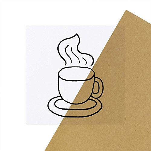 6 x 'Dampfender Kaffee' Transparente Aufkleber / Stickers (SK00027308)