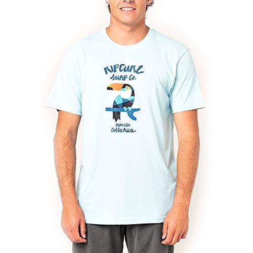 Rip Curl Destination Animals - Camiseta para hombre azul claro L