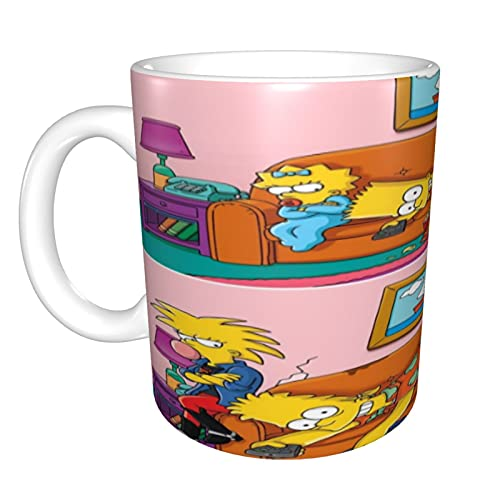 The Simpsons - Taza de café y té, regalo de cumpleaños para hombres y mujeres, 11 onzas