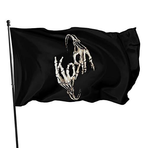 Shenhui Korn Band Flagge, 91 x 152 cm, 100% Polyester, Schwarz, Einheitsgröße