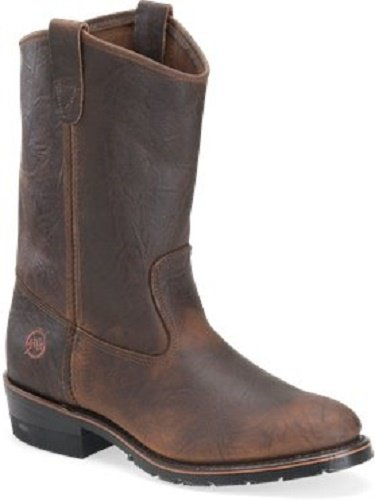 Double H Men's Wide EE 11' Domestic Brown Sahara Rangedocker Leather Ranch...