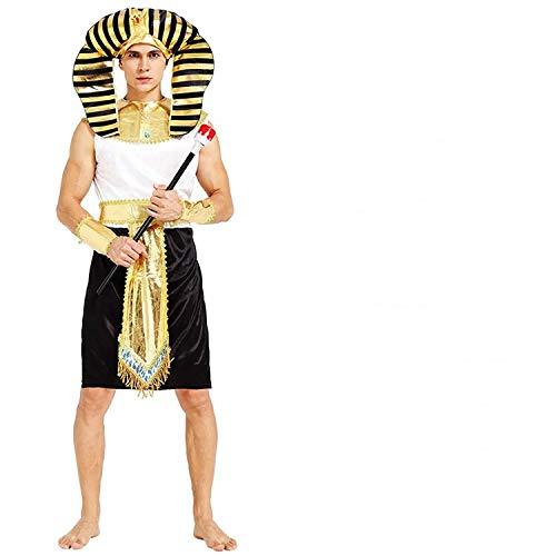 thematys® Faraone Egitto Costume per Uomo - Perfetto per Cosplay, Carnevale e Halloween - Taglia Unica 160-180 cm (Style 3)