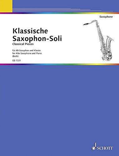 Klassische Saxophon-Soli: Alt-Saxophon und Klavier.