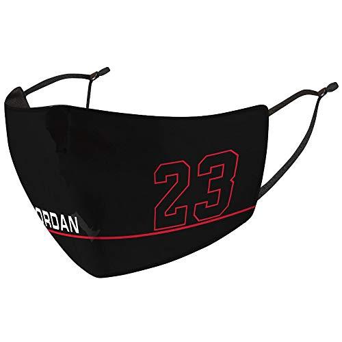 Jugador de Baloncesto patrón Estilo Deporte al Aire Libre protección Cara Bufanda 2 Piezas (un tamaño, Jordan)