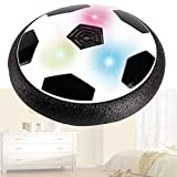 HIZQ Fútbol Flotant, Pelota Futbol con Protectores De Espuma Suave Y Luces LED Balones, Juguete De Disco De Fútbol De Aire para Interiores Y Exteriores