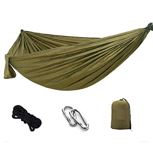 Saladplates-LXM Hammock Garden Hammock-Lightweight Nylon Portable Hanging Chair,Best Parachute Outdoor Hammock for Backpacking,Camping,Travel,Beach,Yard Camping Hammocks (Size : 270x140cm)