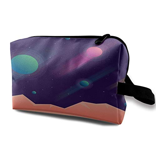 Makeup Bag Planets Cosmos Universe Portable Cosmetic Bag Travel Tolietry Bag Large Makeup Pouch Waterproof Organizer Bag for Women Girls