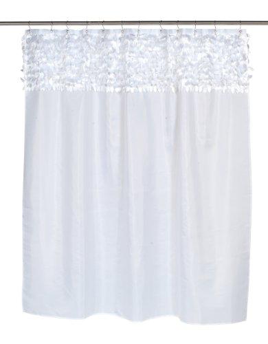 Carnation Home Fashions Duschvorhang Jasmine Stoff, Weiß