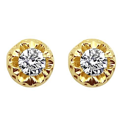 MILLE AMORI ∞ Orecchini Donna Oro e Diamanti ∞ Oro Bianco 9 Carati 375 Diamante 0,36 Carati ∞ Collezione Diadema + Luce + Volume