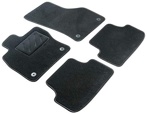 WALSER Alfombras de coche Velour fieltro de la aguja compatible con Chevrolet Captiva 5-7 plazas año de construcción 07/2006 - Hoy