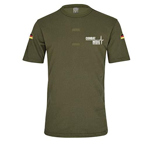 BW Tropen Oliv SpezlKrH EGB Combat Medic Bundeswehr Sanitäter Arzt T-Shirt#32233, Größe:M, Farbe:Oliv