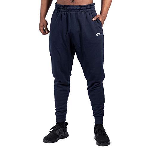 SMILODOX Herren Jogginghose Low Crotch Trainingshose für Sport Fitness Gym Training | Sporthose - Jogger Pants - Sweatpants Hosen - Freizeithose, Farbe:Blau, Größe:XXXXL