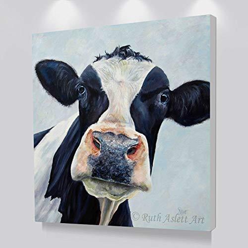 jiushice Rahmenlose Leinwand ng Kuh Wandbilder Für Wohnzimmer Modernes Öl ng Wandkunst Druck Poster Dekorative Bilder Und Kunst 50x70cm