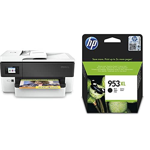 HP OfficeJet Pro 7720 Impresora multifunción Tinta, Color, Wi-Fi + 953XL L0S70AE, Negro, Cartucho de Tinta de Alta Capacidad Original