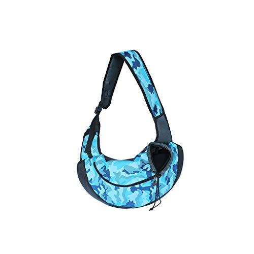 JXLBB Paquet d'animal familier Sac à Dos pour Chat Teddy Out Sac de Voyage Portable Sac pour Chien Diagonal Sac pour Chat Sac pour Chien Sac à Dos pour Chien (Color : Blue)