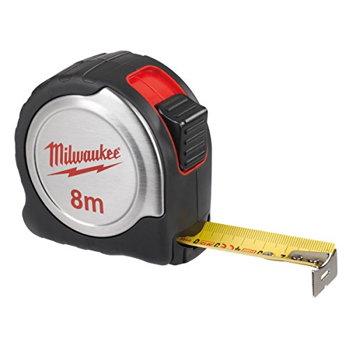 Milwaukee 4932451640plata cinta métrica C8/25, rojo/negro/plata