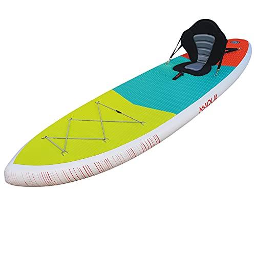 MAQUA Tabla de remo de pie Tabla de surf Tabla de surf Kayak inflable Accesorios SUP Tablas de paleta inflables para adultos Stand Up Paddleboarding Paddle Board Bolsa 320x84x15 140 kg (KAYAK)