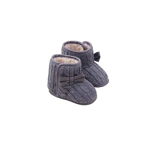 BBsmile Zapatos de Bebe Niñas Recién Nacido Primeros Pasos Antideslizante Suela Blanda Zapatos de Princesa