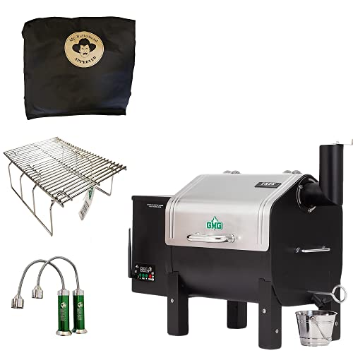 Davy Crockett Trek Pellet Grill Tailgating Package Includes Cover-Collapsible Rack-BBQ Lights