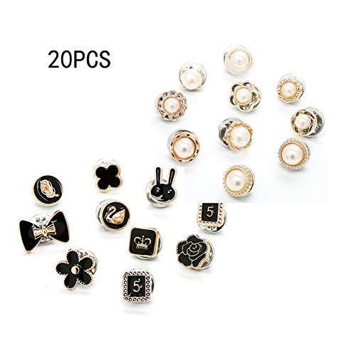 REYOK 20 Stücke Verhindern Versehentliche Exposition Tasten Knöpfe Mode Broschen Handwerk Buttons Kreative Pins Abzeichen Neuheit Kleidung Dekoration für Frauen