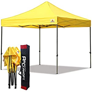 ABCCANOPY Patio 3 x 3 Gazebo Totalmente Resistente al Agua Gazebo Pop Up + Bolsa de Mano, Amarillo