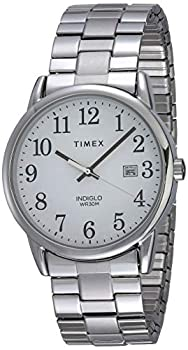 Timex Men s TW2R58400 Easy Reader 38mm Silver-Tone Stainless Steel Expansion Band Watch