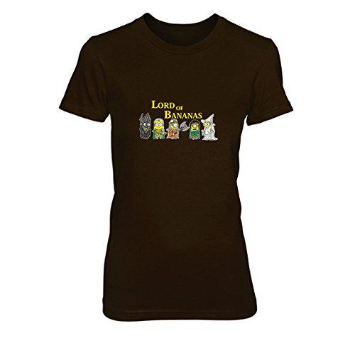 Lord of Bananas - Damen T-Shirt, Größe: S, Farbe: braun
