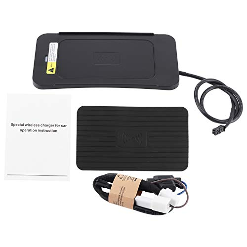 Cargador inalámbrico para automóvil, cargador inalámbrico de 15 W, soporte de carga por inducción rápida, soporte para teléfono, apto para 2010-2015
